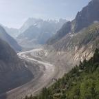 """Rutas por los Alpes (v): caminando por """"Mer de Glace"""""""